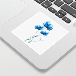 Blue Flowers 2 Sticker