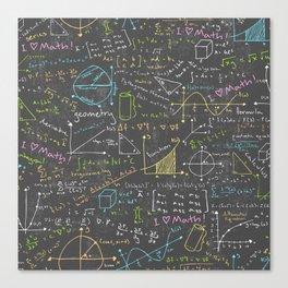 Math Lessons Canvas Print