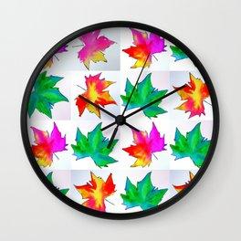 Watercolor prints Wall Clock