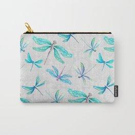 Dragonflies on Paisley Carry-All Pouch