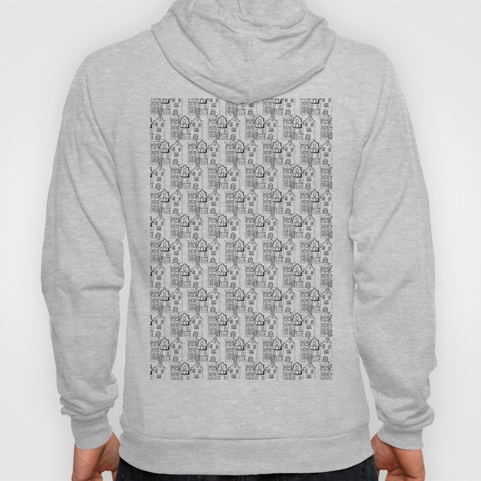Amsterdam Pattern - White Hoody