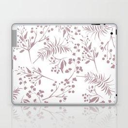 Mauve pink white elegant modern floral Laptop & iPad Skin