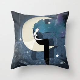 Lady Night 2 Throw Pillow