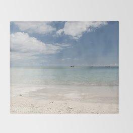 Dream beach Sea Ocean Summer Maritime Navy Throw Blanket