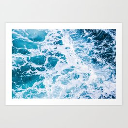 Perfect Ocean Sea Waves Art Print