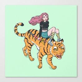 Tiger rider Canvas Print