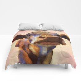 Cora the cow, cow art, cow, farm, animal Comforters