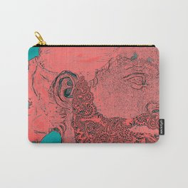 hipster Neptune Red Carry-All Pouch