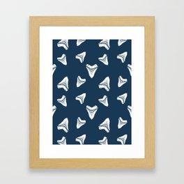 Sharks Tooth Pattern Framed Art Print