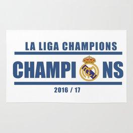 Real Madrid Campeones Champions La Liga 2017 Rug