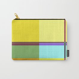 CASUAL YELLOW GEOMETRIC Carry-All Pouch