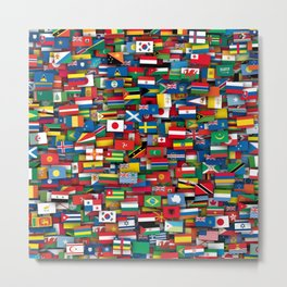 Flags of all countries of the world Metal Print