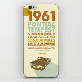 KEITH'S 1961 PONTIAC TEMPEST II iPhone Skin