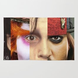 Faces Johnny Depp Rug