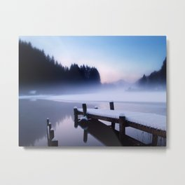 Winter Blues At Loch Ard Metal Print