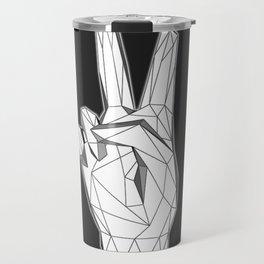 Geometric Peace sign Travel Mug