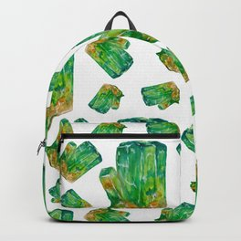 Emerald Birthstone Watercolor Illustration Backpack