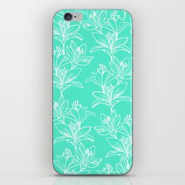 Lily Love in Mint iPhone Skin