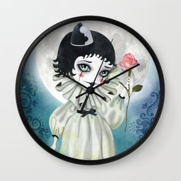 Pierrette Under the Icy Moon Wall Clock