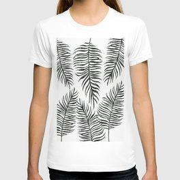 Black Fern Pattern T-shirt