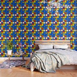 Mondrian Style Wallpaper