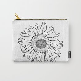 Mother Nature's Genius - Black Outline Graphic Art Carry-All Pouch