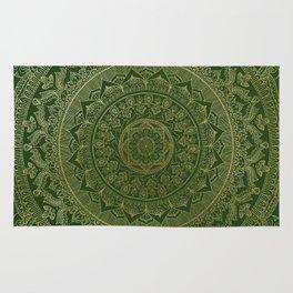 Mandala Royal - Green and Gold Rug