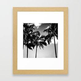 Daydreamy palms Framed Art Print
