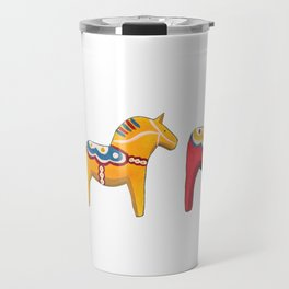 Dala horses Travel Mug