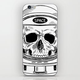 space  skull iPhone Skin