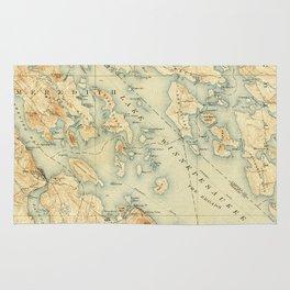Vintage Map of Lake Winnipesaukee (1907) Rug