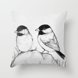 Two Birds With One Stone Throw Pillow