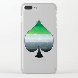 Aromantic Ace Clear iPhone Case