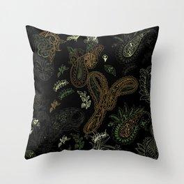 Cactus Garden Paisley 1 Throw Pillow