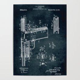 1910 - Firearm patent art Poster