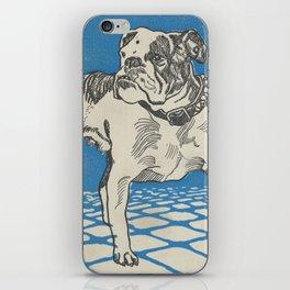 Vintage American Bulldog Illustration (1912) iPhone Skin