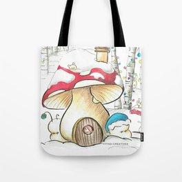 Mushroom in the Snow Tote Bag