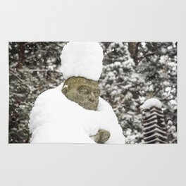 Meditation in Snow Rug