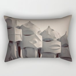 Gaudi's Chimneys Rectangular Pillow