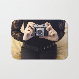 Black Lace and Film Bath Mat