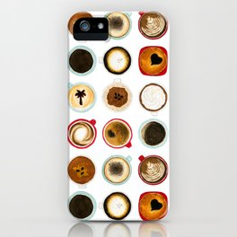 Diffent Sides of Coffee iPhone Case