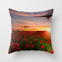 Poppy Vulcans Throw Pillow