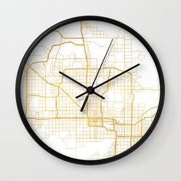 PHOENIX ARIZONA CITY STREET MAP ART Wall Clock