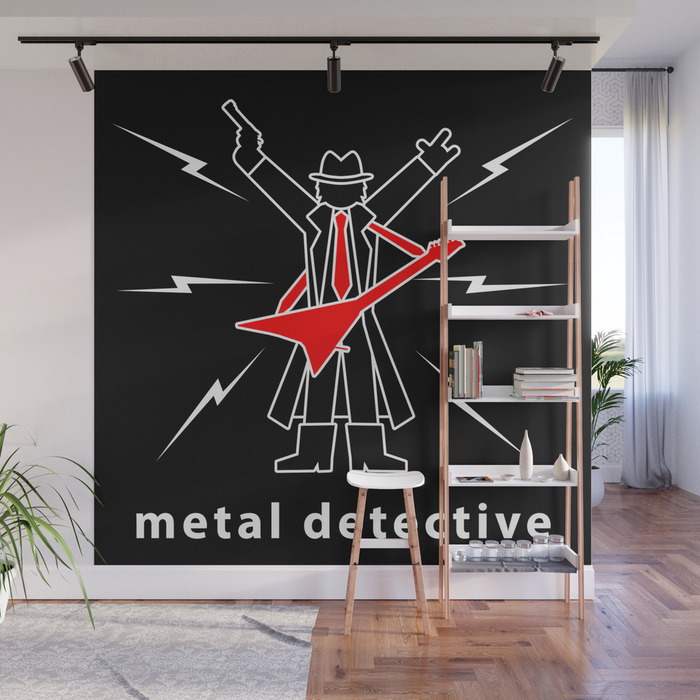 Metal Detective Wall Mural by Maxsomma WMP8085234