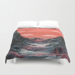 Reflections of a valley Duvet Cover