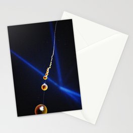 Balloons and lights at night Stationery Cards