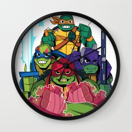 Rise of the new Turtles Wall Clock