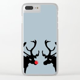 Angry Animals: Rudolph & Prancer Clear iPhone Case