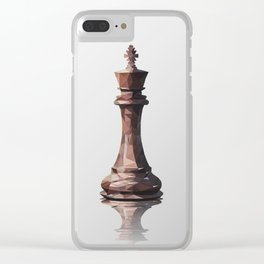 king low poly Clear iPhone Case