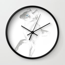 siamese cat ink Wall Clock